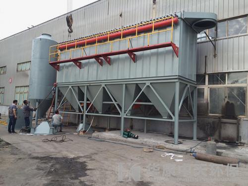 华奥康环保为山西生产的10吨<b>锅炉竞博官网JBO55</b>安装现场