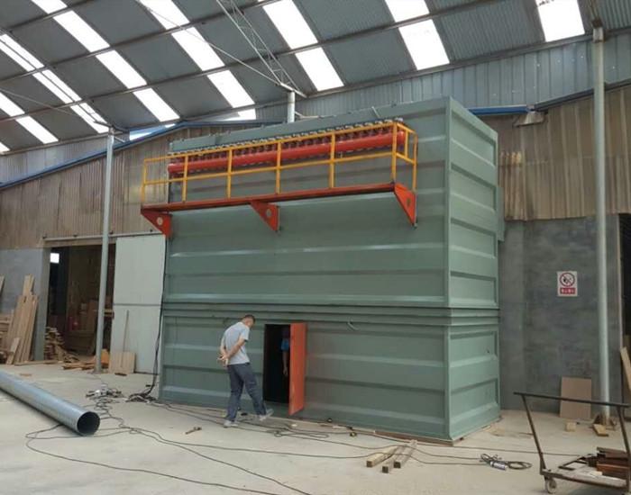 我公司为山东某木业公司设计安装的<b>脉冲袋式竞博官网JBO55</b>